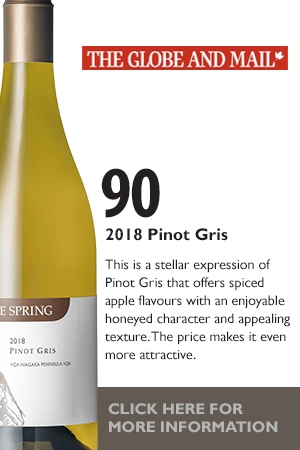 Globe and Mail Pinot Grigio Review