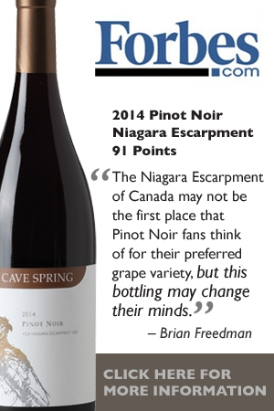 Cave Spring Winery - Forbes 2014 Pinot